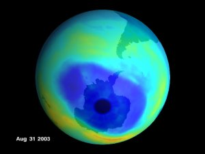 Antarctic ozone hole Aug 31 2003