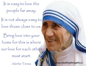 Mother-Teresa-love-starts-from-family